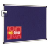 Bi-Office Blue Felt Board 1800x1200 Aluminium Finish - BQ04548
