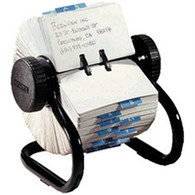 Rolodex Classic 500 Rotary Open Card File Black S0793600 - EL66704