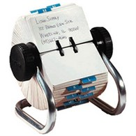 Rolodex Classic 500 Rotary Open Card File Chrome S0793610 - 265-3662