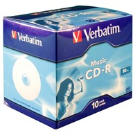 Verbatim CD-R 74Min Music life Audio [10 Pack] 43365 - 43046