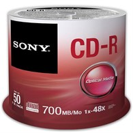 Sony CD-R 700MB Spindle [50 Pack] 50CDQ80SP - 968-1478