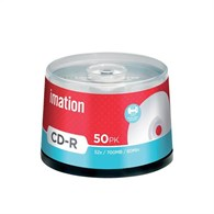 Imation CD-R 700Mb/80minutes White Printable Spindle Pack of 50 i17304 -