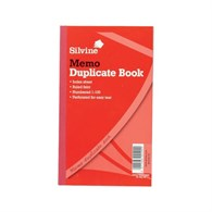 Silvine Duplicate Book Red Ruled 213 x 125mm Pack of 6 - 1643006