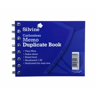 Silvine Wire Carbonless Duplicate Memo 730 [5 Pack] - 635-5868