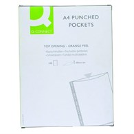 Q-Connect Punched Pocket A4 50micron Pack of 100 KF24001 - 6288519