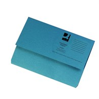 Q-Connect Document Wallet 285gsm Foolscap Blue (Please see notes below) - 0614897