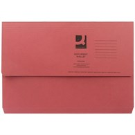 Q-Connect Document Wallet 285gsm Foolscap Red (Please see notes below) - 4129911