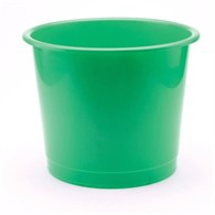 Q-Connect Waste Bin 15 Litre Green KF71443 - 649-5518