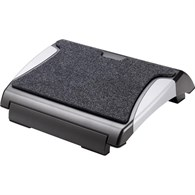 Q-Connect Foot Rest with Carpet Black/Silver KF20075 - 648-7629