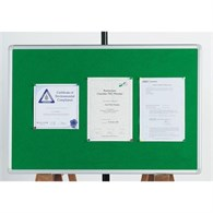 Q-Connect Notice Board 1200x900mm Aluminium Frame Green - 1422505
