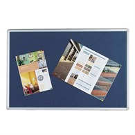 Q-Connect Notice Board 1800x1200mm Aluminium Frame Blue - 4076141