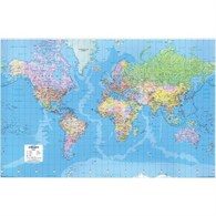Map Marketing World Map Giant 3D Effect Unframed 315 Miles to 1 Inch - 1582435