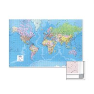 Map Marketing Giant World Political Framed Map - 123-7964