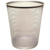 Q-Connect Waste Basket Mesh Silver KF00849 - 834-3698