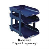 Rexel Agenda 2 In -Out Letter Tray Risers Blue - 1036486