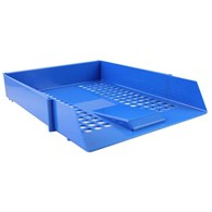 Q-Connect Letter Tray Plastic Blue - 7815966