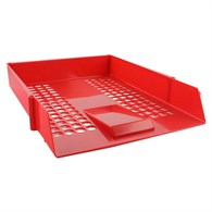 Q-Connect Letter Tray Plastic Red - 1266890
