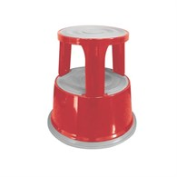 Q-Connect Metal Step Stool Red KF04843 - 648-2595