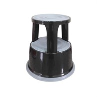 Q-Connect Metal Step Stool Black KF04845 - 648-2643