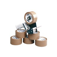 Marland Tape Dispenser with 6 Rolls Plastic Tape [50mm x 66Metres] MA99 - 249-1414