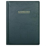 Collins Wiro Address Book 120x148 Black BA5 - 151-9343