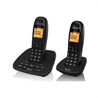 BT 1500 Twin Dect/Answer Machine Telephone in Black 066857  - 965-2478
