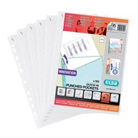 Elba Heavy Duty Quick-In Punched Pocket A4 Clear [100 Pack] 400012939 - 957-1269