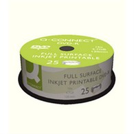 Q-Connect Inkjet Printable DVD-R Spindle Pk25 - KF18021