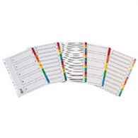 Q Connect EW Index 1-12 Board Reinforced Multi-colour - KF76985