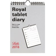 Letts Royal 2016 Weekly Tablet Calendar 5-TRT