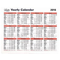 Letts 2016 Yearly Calendar 5-TYC