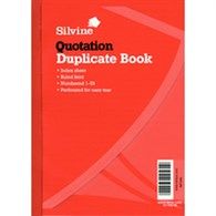Silvine Duplicate Red Cover Quotation Book 150x210mm 624 - SV42563